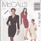 McCall 5719 Pattern Uncut 12 Wrap Dress Short/Long Sleeves