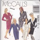 McCall 5624 Pattern Coat Dresses 12 Fashion Basics Collar Variations Uncut