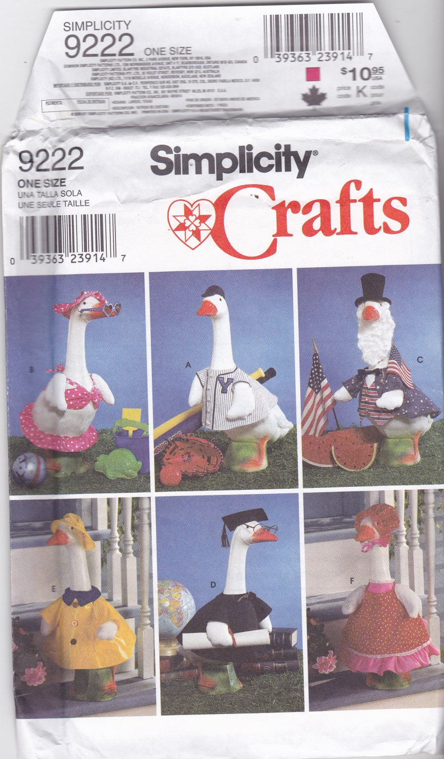 Simplicity 9222 Crafts Sewing Pattern Uncut Costumes For