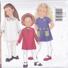 Butterick 6786 Girls 6 7 8 Uncut A Line Short Dress Peter Pan Collar