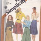 Simplicity 5204 Pattern skirts size 10 uncut gored, box and inverted pleats