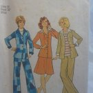 Vintage Simplicity Leisure Suit Jacket Pants Skirt Pattern 7095 size 16 uncut