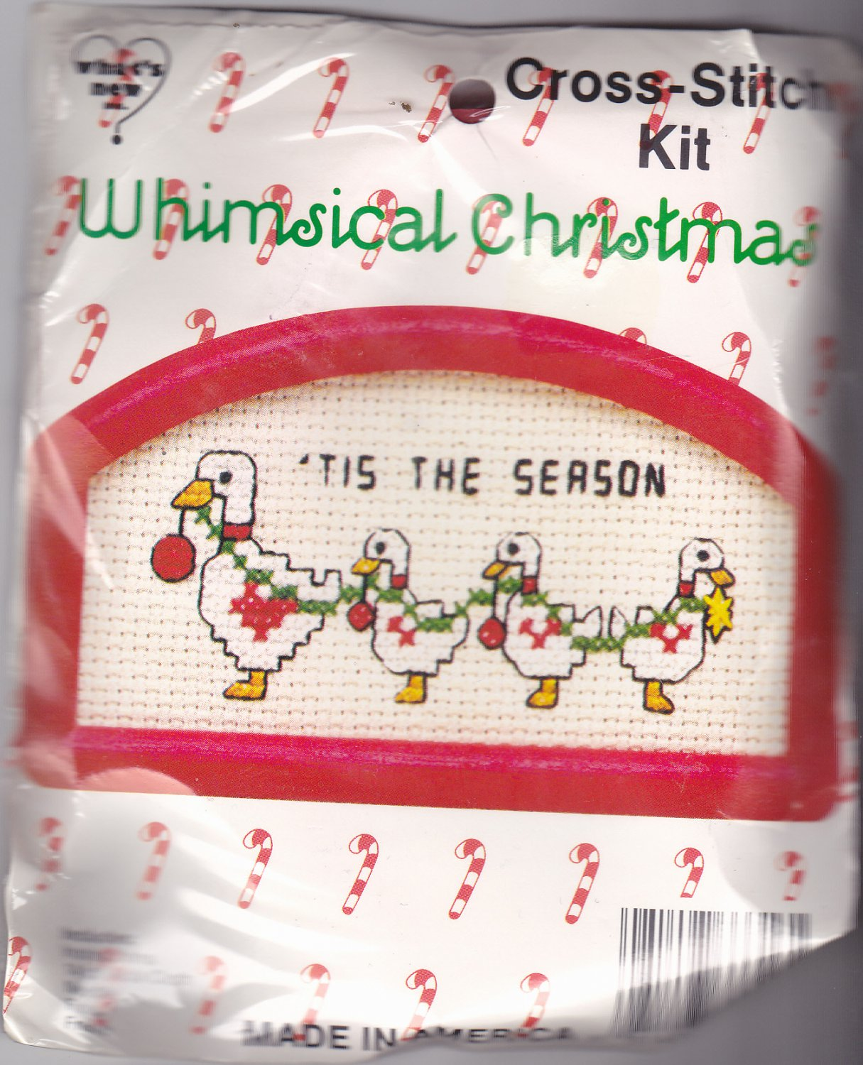 New Berlin Co. Counted Cross Stitch Ornament Kit 033316 Tis The Season Ducks