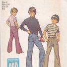 Simplicity 6480 Pattern Boy 8 W24 Flared Leg Pants Jeans Uncut c 1974