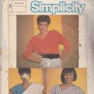 Simplicity 6756 uncut 10 12 14 Asymmetric V Neck Tops Color Block Easy