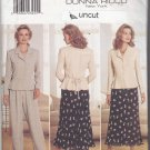 Butterick 4449 uncut 12 14 16 Separates Peplum Top Skirt Pants Donna Ricco