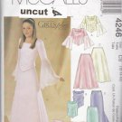 McCall 4246 Uncut 12 14 16 Girls Lined Tops Skirts Stole Tween Two Piece Dress