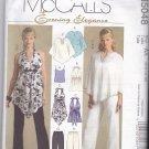 McCall's M5048 Uncut 6 8 10 12 Halter Tops Ponchos Pants Evening Elegance