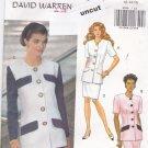 Vintage Butterick 5998 Easy Pattern 12 14 16 Top Skirt David Warren Uncut