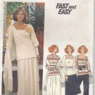 Vintage Butterick 4562 Top Skirt Pants Stole for Stretch Knits 16 Dressy Uncut