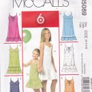 McCall's M5089 Uncut 3 4 5 6 Girls Toddlers Sundress Dress Ruffle Raised Waist