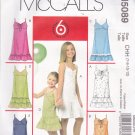 McCall's M5089 Uncut 7 8 10 12 Girls Sundress Dress Ruffle Raised Waist