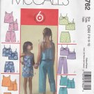 McCall M4762 Uncut 7 8 10 12 Girls Summer Tops Shorts Skort Capri Pants Separates