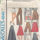 McCall Pattern 4849 Skirts Pants Shorts Waist 28 Hip 38 uncut Vintage 1970s