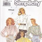 Simplicity Pattern 9924 Long Sleeved Blouses Uncut 10 12 14 16 18