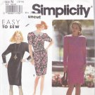 Simplicity Pattern 7493 10 12 14 Easy Dress Detachable Cuffs  Uncut