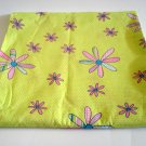 Springs Industries Fabric 3/4 y Lime Green Tiny Dots Bright Pink Flowers