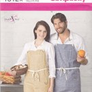 Simplicity 1512 Pattern Uncut Men Women S M L Chest/Bust 34-44 Bib Utility Apron with Pockets