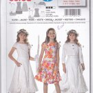 Burda 9574 Uncut Girls 9 10 11 12 13 14 Dress Peekaboo Slip Ruffled Hem Cropped Jacket