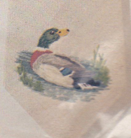 Crewel Embroidery Necktie Kit Mallards Blanche Virgien Ducks NIP for you to make