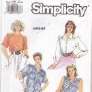 Simplicity Pattern 7169 size 6 8 10 12 14 Button Front Shirt Uncut