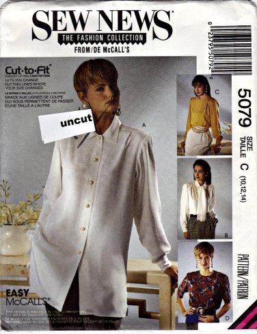 5079 Sew News McCalls Pattern 10 12 14 Uncut Blouse Scarf