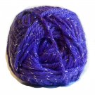Acrylic Sparkle Yarn Purple 1.75 oz 50g 90 yd 82 m Worsted Weight 4