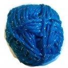 Acrylic Sparkle Yarn Bright Green Blue  1.75 oz 50g 90 yd 82 m Worsted Weight 4