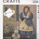McCall 8774 Uncut Garden Doll Quilt Bunny Hanging By A Thread crafts