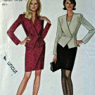 Simplicity New Look 6578 Pattern Unlined Jacket Skirt 2-Piece Dress 8 10 12 14 16 18 Uncut