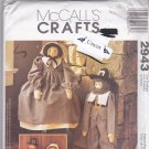 McCall 2943 Pattern Uncut Faye Wine Pilgrim Decorative Dolls Crafts Thanksgiving
