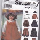 Simplicity 5936 Pattern Toddler Jumper Top Hat Pants 1/2 1 2 3 4 Uncut