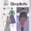 Simplicity Pattern 7442 uncut 10 12 14 16 18 Slim and Full Dress