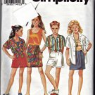 Simplicity 8446 Pattern Girls Shorts Skirt Tank Top Shirt BB (12 14)  Uncut