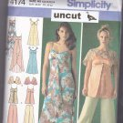 Simplicity 4174 Dressy Long or Short Dress Top Pants Capelet 6 8 10 12 14 Uncut