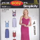 Simplicity 4526 Pattern Easy Tops Bias Skirt 6 8 10 12 14 16 Uncut