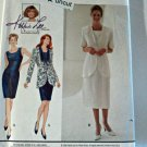 Simplicity 9336 Pattern Princess Seam Dress Unlined Jacket 12 14 16 Uncut LBD