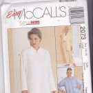 McCall's 2073 Pattern Large 16 18 Uncut Shirt Mandarin Collar Pin Tucks Pull On Pants