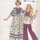 Simplicity 6001 Uncut 10 Girls Caftan Short Long Boho Hippie Dress Square Neckline