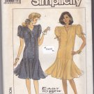 Simplicity 8484 Pattern Uncut 16 18 20 Dress Dropped Waist Flared Skirt 1980s 80s