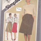 Simplicity 9789 Pattern Uncut 10 Slim Fit Skirts Vintage 1980s 80s Button Front or Back Zip