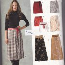 Simplicity New Look 6650 Uncut 8 10 12 14 16 18 Skirts Zipper Mock Wrap