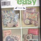 Simplicity 9243 Uncut Design Your Own Pillows Square Round Neck Roll Heart Shaped Options