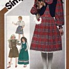 Vintage Simplicity 5672 Pattern uncut Girl's 12 Full Skirts Blouse Lined Vest
