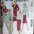 Vintage McCall's 6725 Carole Little Sewing Jacket Skirt Pants Pattern 14 uncut