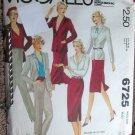 Vintage McCall's 6725 Carole Little Sewing Jacket Skirt Pants Pattern 14 uncut