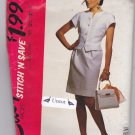 Stitch N Save 5914 Uncut 10 12 14 16 Two Piece Dress Top Straight Skirt