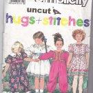 Simplicity 7038 Hugs & Stitches Toddler Dress Jumpsuit Pattern 1 2 3 4 uncut