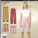 Simplicity 3839 Easy Misses' Pants Shorts pattern uncut size 6 8 10 12 14 16