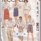 McCall 9617 Uncut Pants Capris Bermuda Shorts Skirts 12